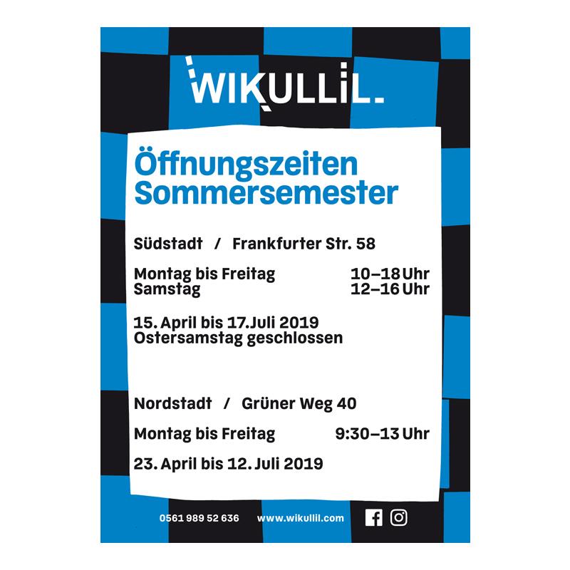 Öffnungszeiten zum Sommersemester 2019